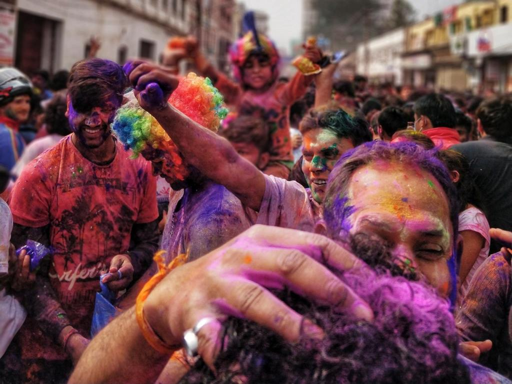 Picture of Indians playing holi